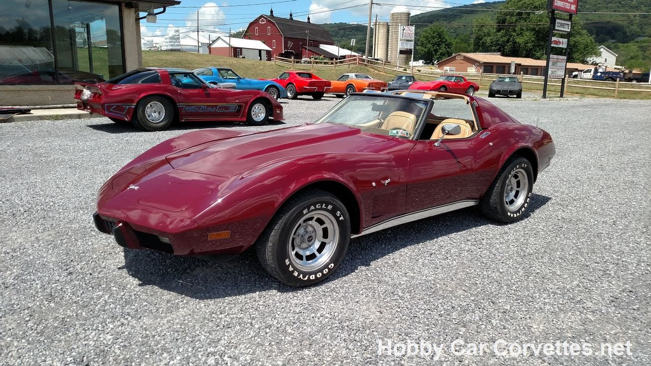Power Stop Brakes >> 1977 Dark Red Corvette 4spd Tan Int For Sale - YouTube