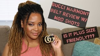Plus Size Guide Gucci Marmont Belt Review w/ Mod Shots | Chi.Chi.Luxe