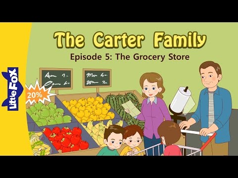 The Carter Family 5 | The Grocery Store | Family | Little Fox | Animated Stories for Kids
