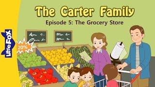 Die Carter-Familie 5 | im Supermarkt | Familie | Kleiner Fuchs | Animierte Geschichten für Kinder