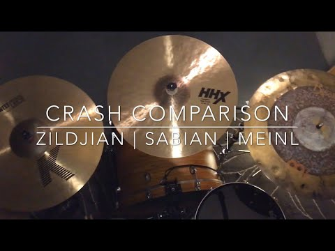 "Crash Cymbal Comparison - 18"" Zildjian K Sweet   Sabian HHX Complex Thin   Meinl Byzance Dual"