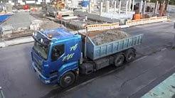 SISU truck- Liebherr tower crane -Nokia Osuuspankin talo
