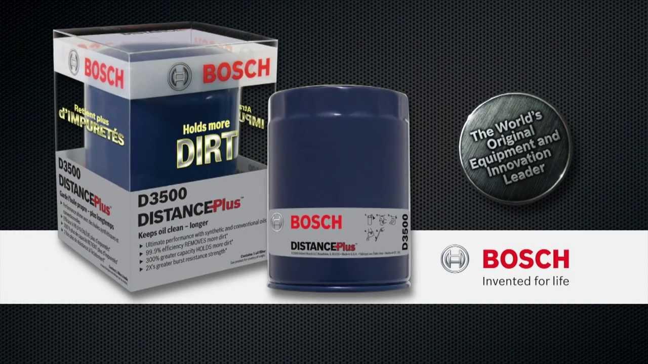 bosch distanceplus oil filters youtube