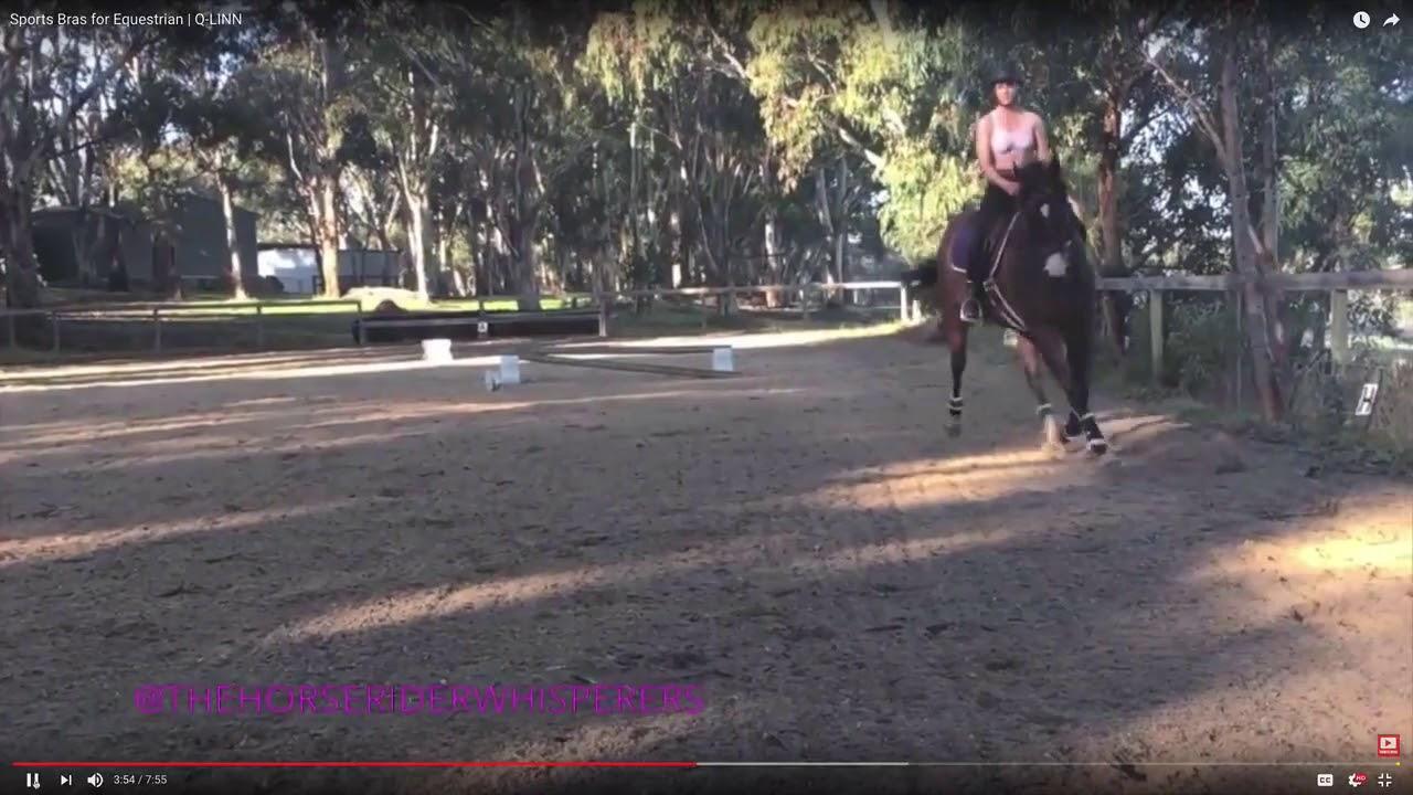 eac3e6c8193bc Q Linn Barcelona horse riding bra review - YouTube