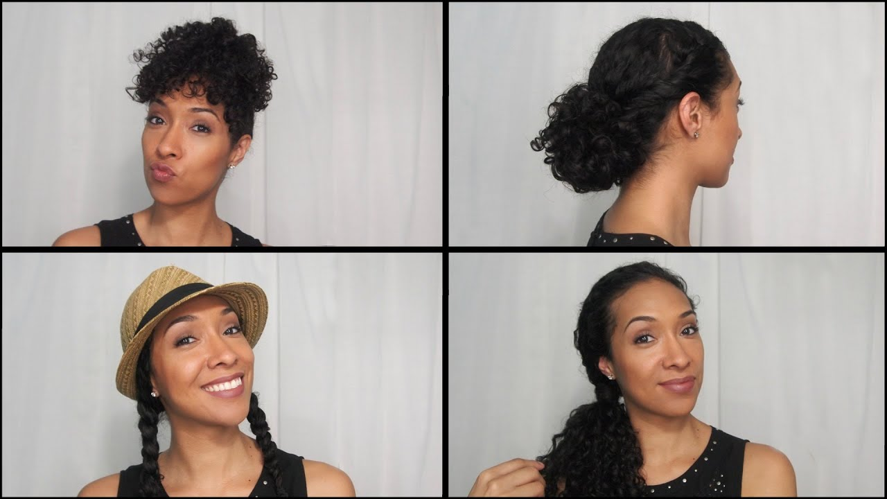 Summer Hairstyles For Naturally Curly Hair - YouTube