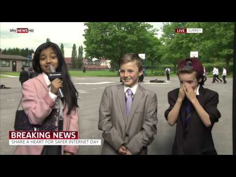 Safer Internet Day Sky News report - Weston Green School