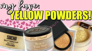 BEST YELLOW SETTING POWDERS FOR DARK SKIN SWATCHED!