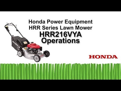 HRR216VYA Lawn Mower Operation