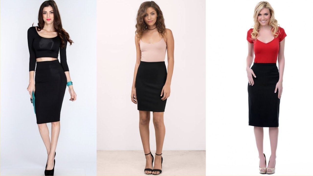15364ab7b Wonderful Black Pencil Skirt Dress For Heavy Activities - YouTube