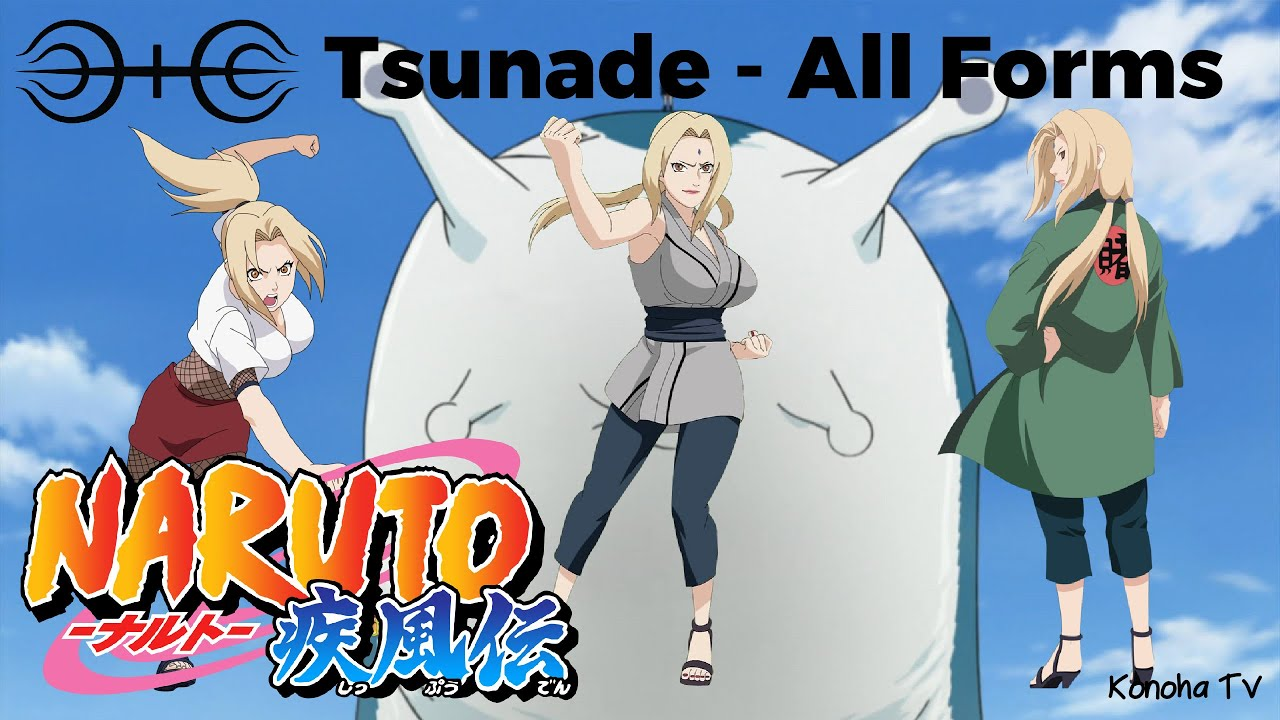 Tsunade - All Forms & Character Growth - YouTube