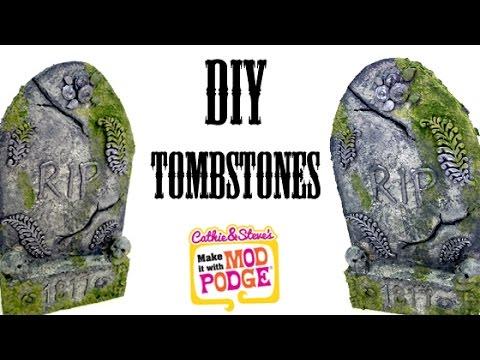 diy halloween tombstone yard decorations youtube - Halloween Tombstone Decorations