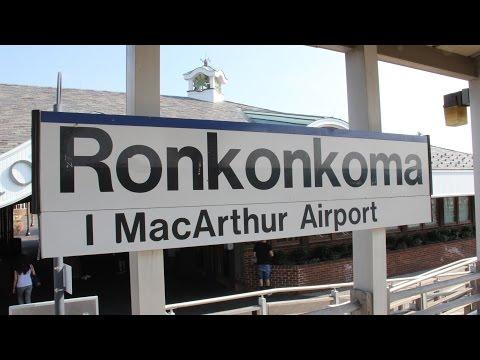 Trains Station Tour at Ronkonkoma New York USA : MTA LIRR Long Island Rail Road Train