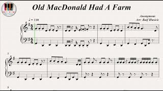 Old MacDonald Had A Farm, Piano