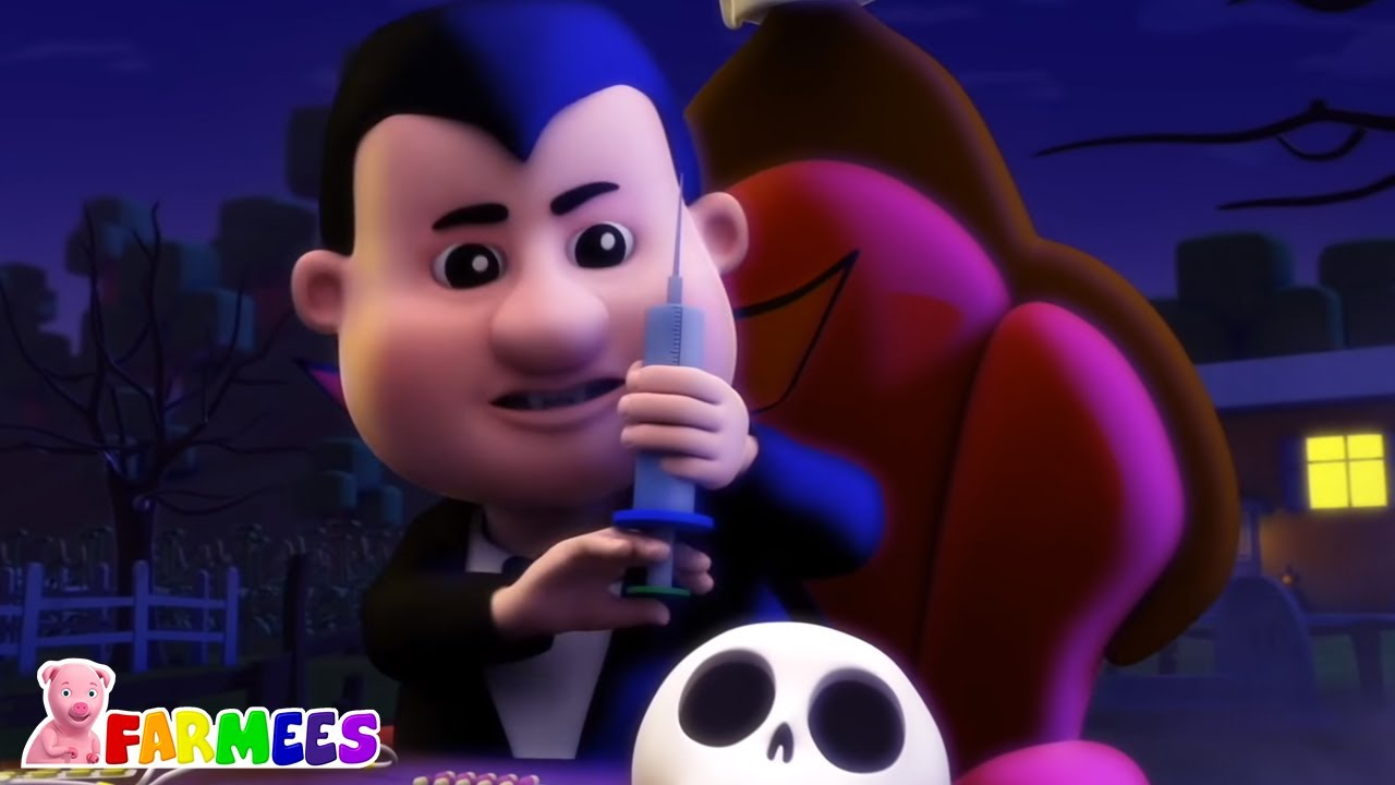 Doctor Drácula | Dibujos animados | Musica de halloween | Farmees Español | Rimas para niños