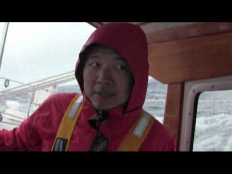 Mahina Expeditions - Offshore Sail Training -  Roger explains surfing Mahina Tiare - Leg 5 2012