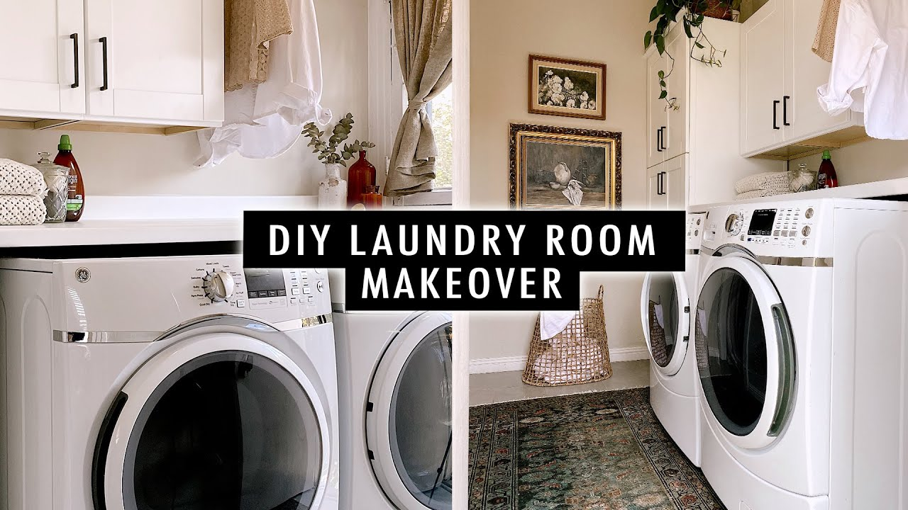DIY LAUNDRY ROOM MAKEOVER (Part 2) | XO, MaCenna