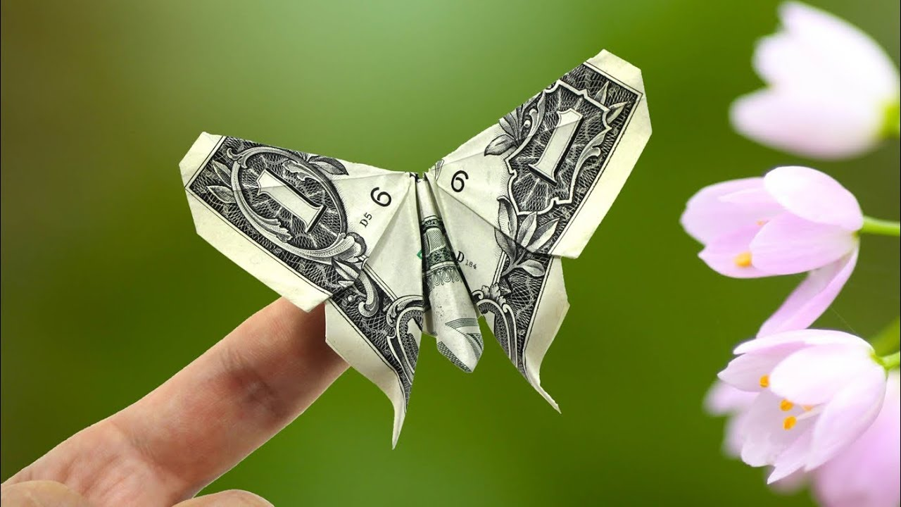 Money Twist Tie Butterfly - Make-Origami.com | 720x1280