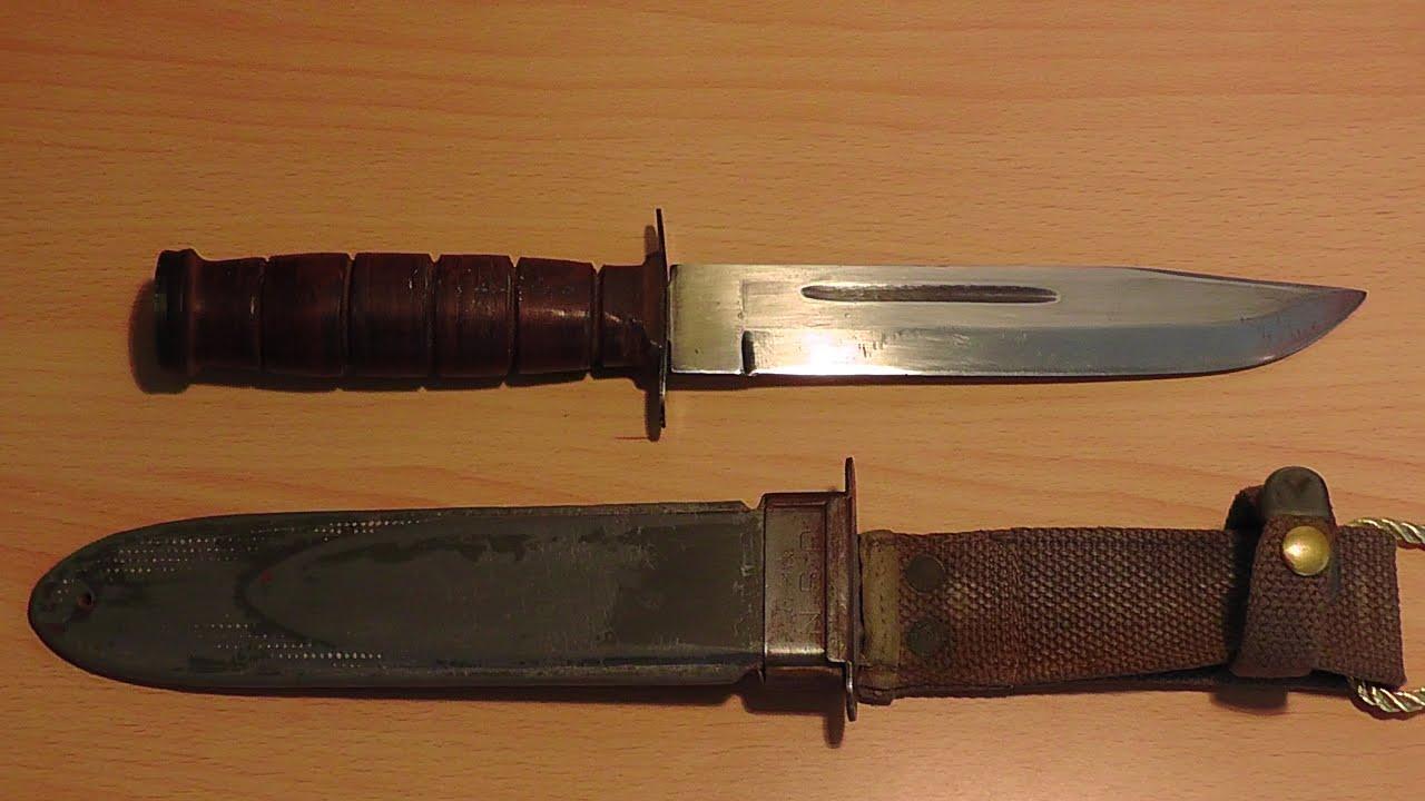 Нож КаБар и штык нож от АКМ - YouTube