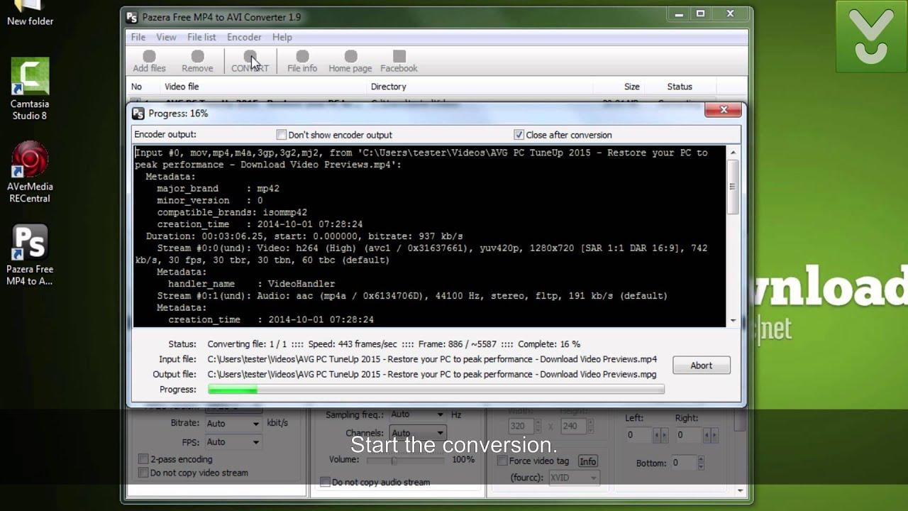 Pazera MP4 to AVI Converter - Convert MP4 files to AVI or MPG - Download  Video Previews