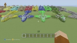 Minecraft Xbox 360 Edition: How To Build The UNSC Pelican with Halo Mammoth Show Off