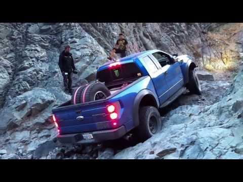 Ford Raptor Wet Rock Climb 4