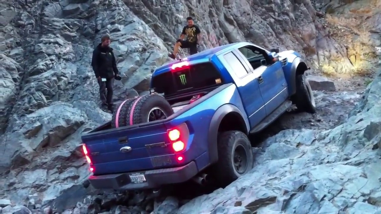 Ford Raptor Wet Rock Climb 4 - YouTube