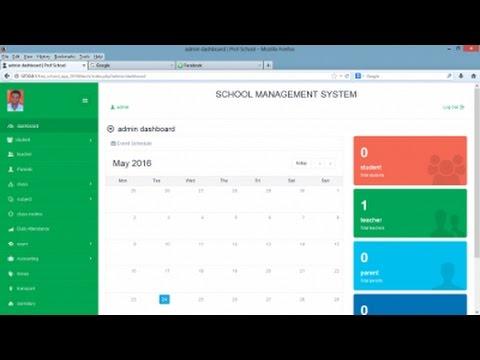 Sistem Manajemen Sekolah Menggunakan PHP Mysql + Source Code