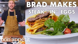 "Brad Makes Steak ""In"" Eggs 