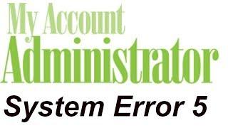[ हिंदी ]System Error 5:(Windows Hidden Administrator Account)