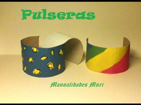 Manualidades pulseras recicladas con rollos de papel - Youtube manualidades de papel ...