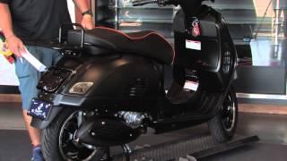 Custom Murdered Out 2015 Vespa GTS Super