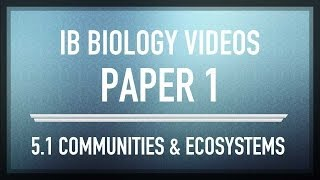 communities and ecosystems ib sl biology past exam paper 1 questions