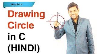 Program to Draw Circle Using C Graphics (HINDI)