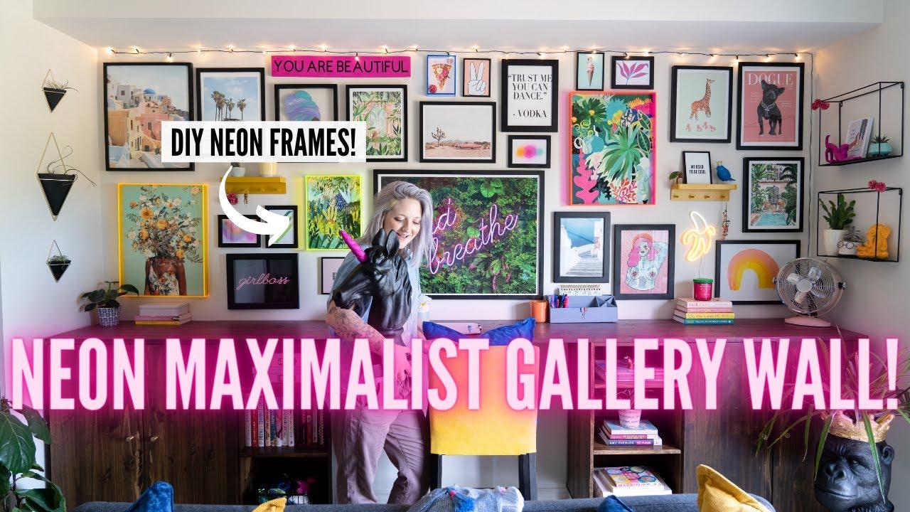 Download diy neon MAXIMALIST gallery wall makeover!   DIY Danie