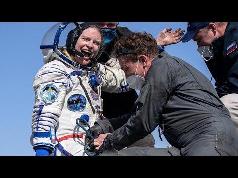 شاهد: رواد فضاء روسيان وأميركية يعودون من محطة الفضاء الدولية…  - 06:57-2021 / 4 / 18