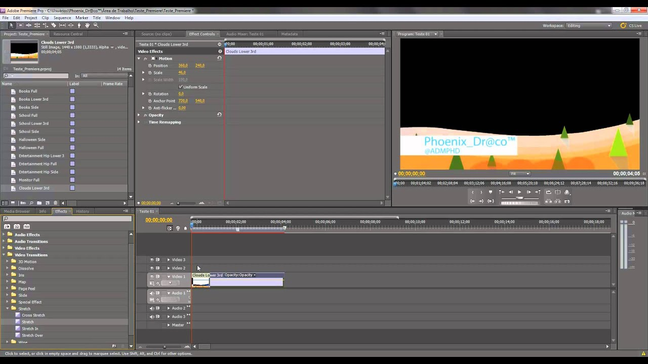 Insert Template - Adobe Premiere CS5 - YouTube