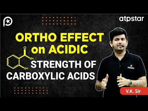 Ortho Effect in Carboxylic acids - JEE||NEET||CBSE(IITian Faculty) (HINDI)