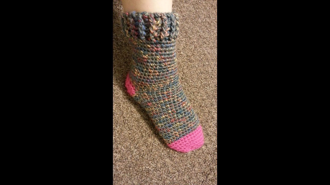 Most, not all, crochet socks are made to be worn as what is known as slipper socks. These are house socks that you wouldn't necessarily wear to go out shopping but something that you put on when you are around the house to keep your feet warm.