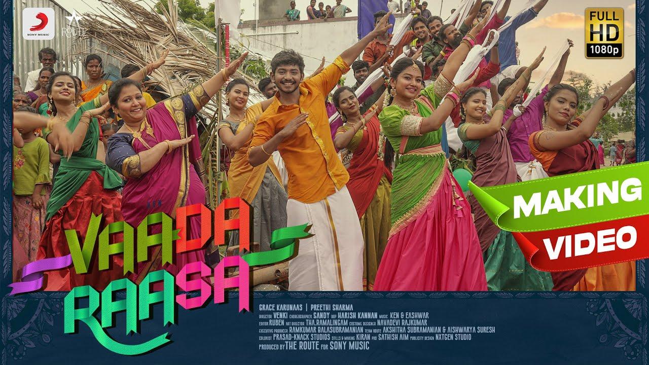 Vaada Raasa - Song Making | Ken | Grace Karunaas | Preethi Sharma | Eshwar | Venki