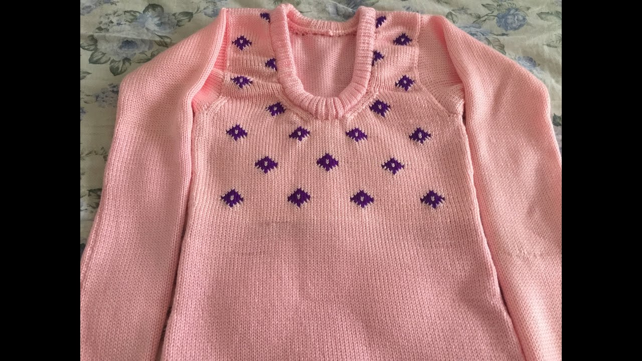 Knitting Pattern - How to make intarsia knitted sweater - for 13 ...