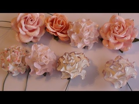 Wild Orchid Crafts- Tutorial on altering paper flowers.