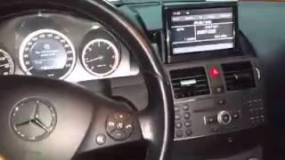 installation de la camera de recul pour la Mercedes c 220 2007