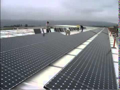 1 Megawatt PV Solar Power Plant Instalation
