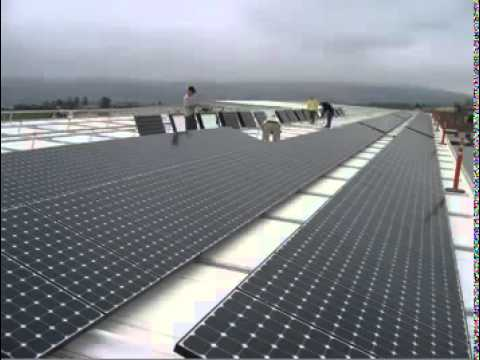 1 Megawatt PV Solar Power Plant Instalation