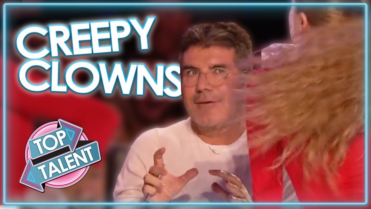 CREEPY CLOWN Auditions on Got Talent! | Top Talent