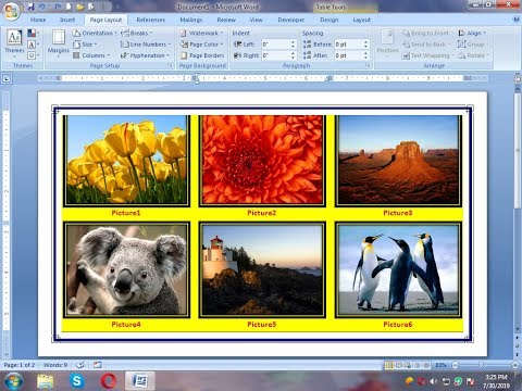 How To Insert Pictures In MS Word Table