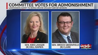 Panel admonishes S.D. Senate Republican leaders Langer, Greenfield for intoxication