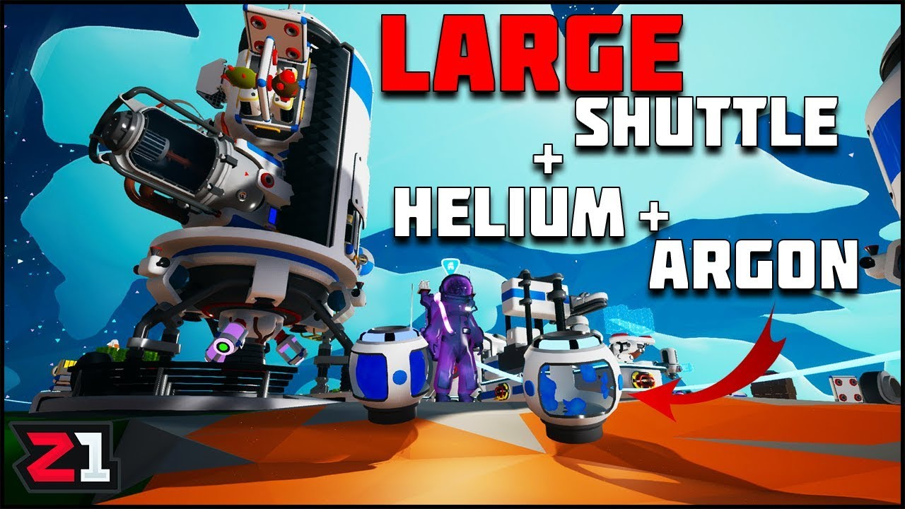 Helium Argon And Large Shuttle Astroneer 1 0 Gameplay Ep