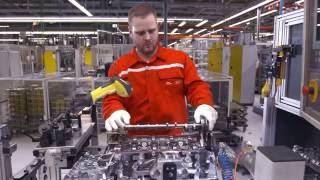 Fabrication des moteurs 4 cylindres Audi à Győr