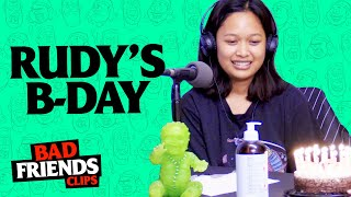 Andrew Santino Buys Birthday Gifts Bobby Lee Takes Credit | Bad Friends Clips